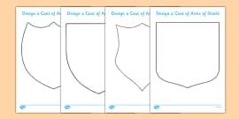 Fairytale Castle Design a Coat of Arms Shield