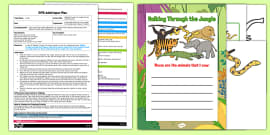 EYFS Writing Animal Names Jungle Animals Themed Adult Input Plan and Resource Pack