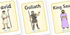 David and Goliath Display Posters