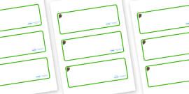 Beaver Themed Editable Drawer-Peg-Name Labels (Blank)