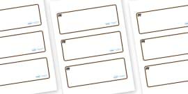 Bear Themed Editable Drawer-Peg-Name Labels (Blank)