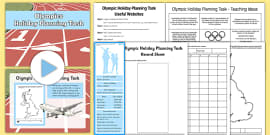 Olympic Holiday Planning Task Resource Pack