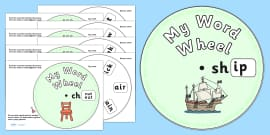 Initial Sound Word Wheels sh, ch and th