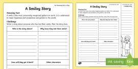 * NEW * A Smiley Story Activity Sheet