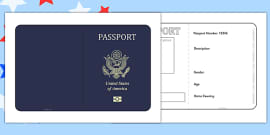 United States of America Passport Template