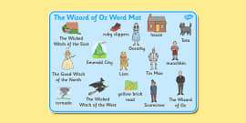 Wizard of Oz Word Mat