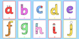 Lower-Case Monster Alphabet Display Posters
