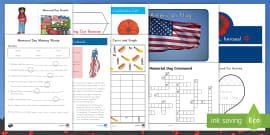 * NEW * Memorial Day K-5 Resource Pack