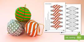 Simple 3D Paper Christmas Baubles Decoration Paper Craft