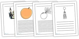 Writing Frames to Support Teaching on James and the Giant Peach