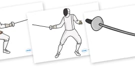 The Olympics Editable Images Fencing
