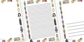 Snow White and the Seven Dwarfs Page Borders