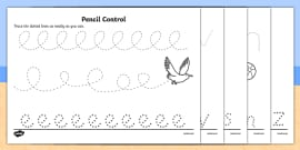 Seaside Pencil Control Activity Sheet Pack