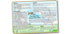 Lesson Plan Ideas KS1 to Support Teaching on Stick Man