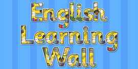 English Learning Wall Title Display Lettering