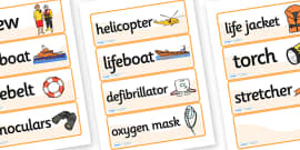 Lifeboat Station Word Cards