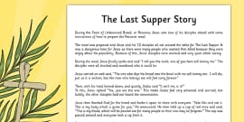 The Last Supper Story Sheet