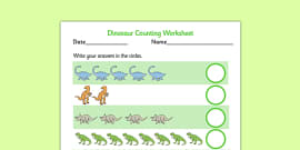 My Counting Activity Sheet (Dinosaurs)
