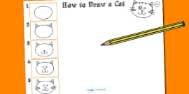 How to Draw a Cat Activity Sheet