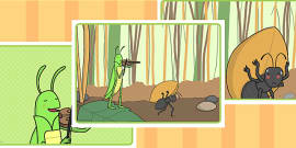 The Ant and the Grasshopper Story Sequencing
