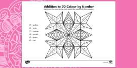 Rangoli Patterns Addition to 20 Colour by Number