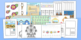 Seaside and Summer Themed Fine Motor Skills Pack