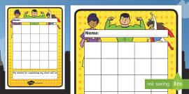Superhero Sticker Stamp Reward Chart