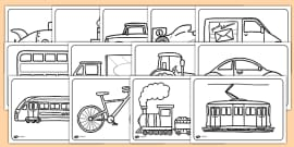Transport Colouring Pages