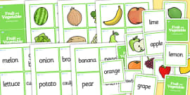 Fruit And Vegetables Matching Game