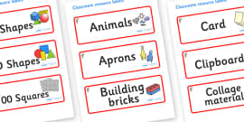 Koala Themed Editable Classroom Resource Labels