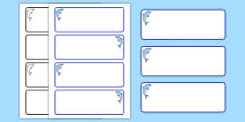 Dolphin Themed Drawer Peg Name Labels (Blank)