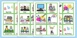KS2 Visual Timetable