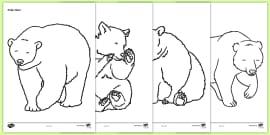 Bears Colouring Sheets