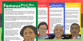 Black History Month Famous Black Men and Women Information Posters