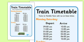 Train Station Timetables