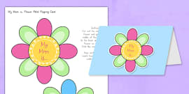 Mother's Day Flap Flower Card