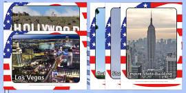 American Landmarks Display Photos
