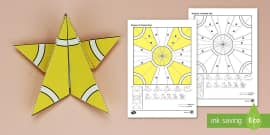 Simple Origami Christmas Star Paper Craft