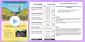 Tour de France Yorkshire Holiday Brochure Writing Activity