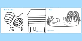 Colouring Sheets to Support Teaching on Rosie's Walk