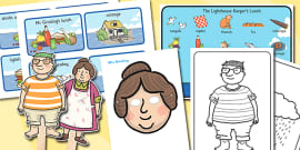 Story Sack Resource Pack to Support Teaching on The Lighthouse Keepers Lunch