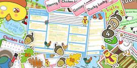 Chicken Licken KS1 Lesson Plan Ideas and Resource Pack
