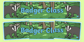 Badger Themed Classroom Display Banner