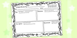 Jungle Themed Book Review Template