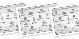 Castles and Knights Word Mat