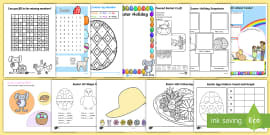 KS1 Easter Homework Activity Pack