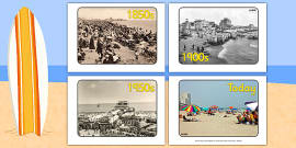 Seaside Through the Ages Display Photos