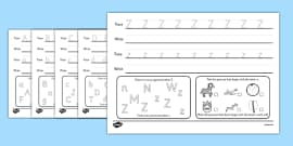 Alphabet Practise Activity Sheets