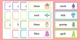KS1 Alien Nonsense Word Cards