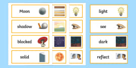 Year 3 Light Scientific Vocabulary Cards